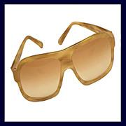 GUCCI 1158/S Blond Tortoiseshell or Horn Color Aviator Sunglasses