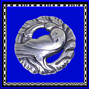 GEORG JENSEN Art Nouveau Dove Brooch No. 165