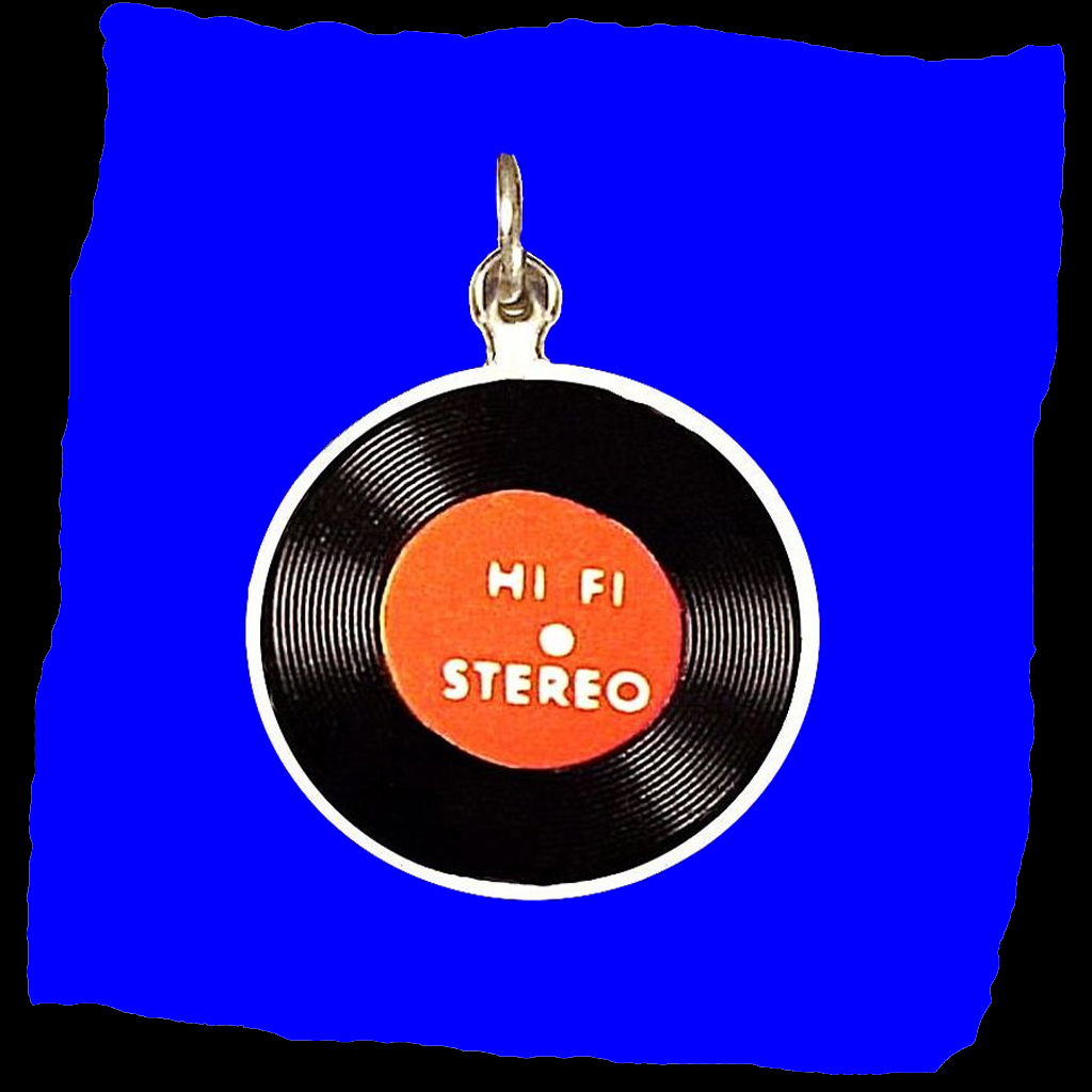 VINYL RECORD Rare Rock and Roll Sterling Silver Vintage Charm