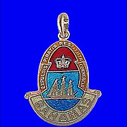 BAHAMAS Gorgeous Vintage Sterling Silver and Enamel Charm