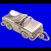 Convertible with Retractable Hard Top Sterling Silver Charm
