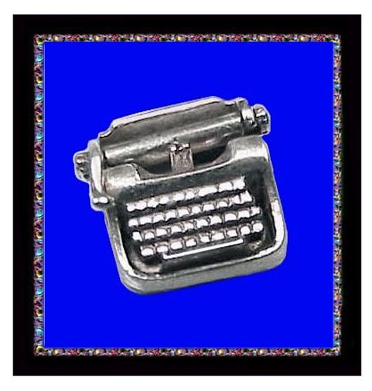 TYPEWRITER Ubercool Sterling Silver 3D Mechanical Charm