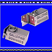 Galloping Dominoes Charm Mechanical 3-D Sterling Silver Vintage 1960s