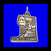 WASHINGTON D.C. Sterling Silver Vintage State Charm