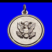 GREAT SEAL of the United States Sterling Silver Charm Vintage 1970s