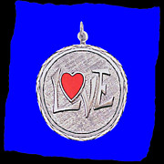 LOVE Sterling Silver and Enamel Charm