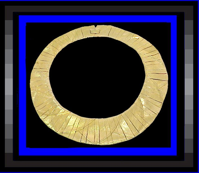 NAPIER Fierce Fabulous Egyptian Style Collar Necklace Vintage 1970s Book Piece