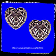 BARRY KIESELSTEIN-CORD Ribbed Vault Gothic Heart Sterling Silver Earrings