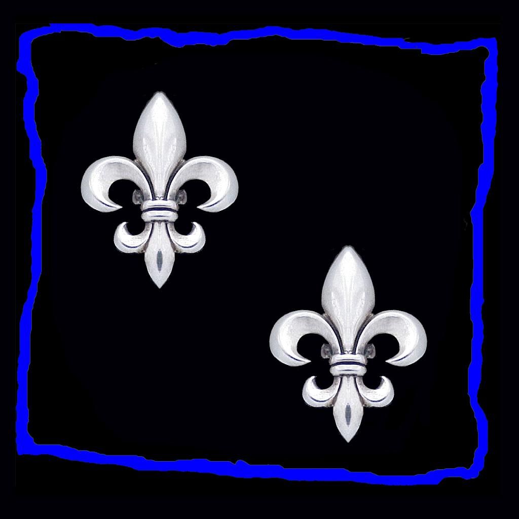 Regal Fleur De Lys Sterling Silver Cufflinks