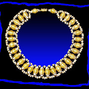 Spellbinding Maison Gripoix Style Egyptian Revival Collar Necklace