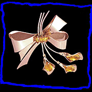 CoroCraft Easter Lily Gold Plated Sterling Silver Pin Brooch