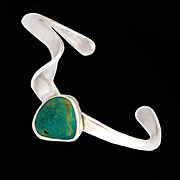 Vintage Freeform Contemporary Turquoise Bracelet by Jimmy Herald of the Thunderbird Shop
