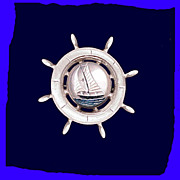 SAILBOAT Essex Crystal Style Pin Marvelous Vintage 1940s
