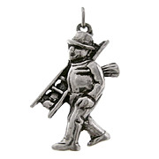 CHIMNEY SWEEP European 835 Silver Good Luck 3D Charm