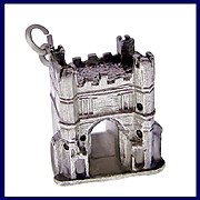 KINGS LYNN SOUTH GATE Fabulous 3D Sterling Silver Charm or Pendant Vintage 1960s