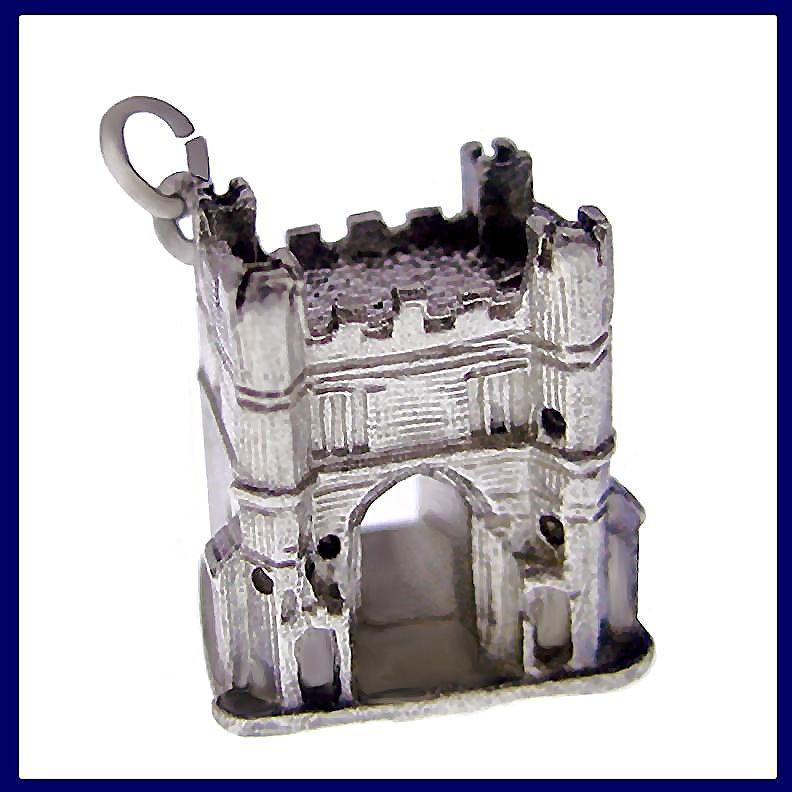 KINGS LYNN SOUTH GATE Fabulous 3D Sterling Silver Charm or Pendant Vintage 1960s