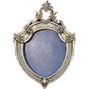 Victorian Style Sterling Silver Portrait Holder Pin