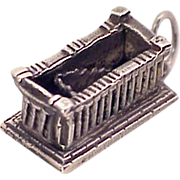 PARTHENON Large 3D European 900 Silver Charm
