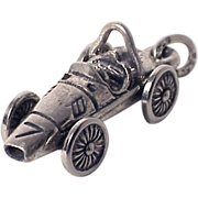 FORMULA ONE RACE CAR Rare 3D Cooper Climax Style Grand Prix Sterling Silver Charm Vintage 1960s