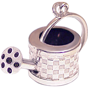 Lovely Watering Can Large 3D Sterling Silver Charm