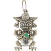 Incan God Sterling Silver Charm or Pendant