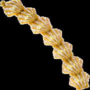 Dazzling Swarovski Brand Vintage Austrian Crystal Seashell Bracelet