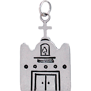 JAMES ROGERS Southwest Spanish Mission Sterling Silver Pendant or Charm