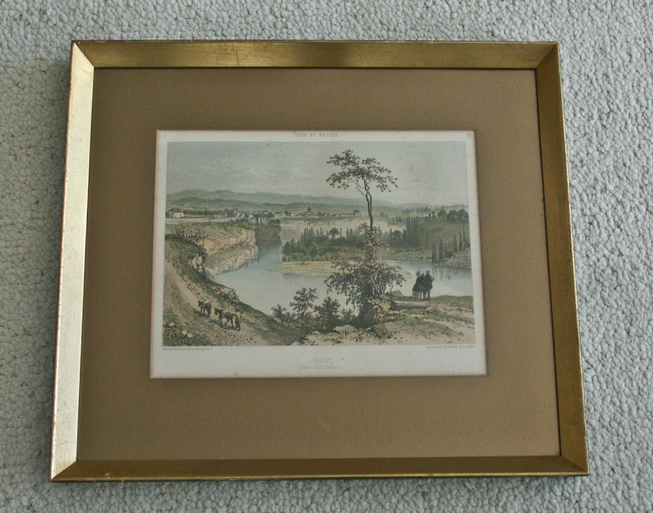 Old French Print Rumilly Nice France Charpentier Benoist
