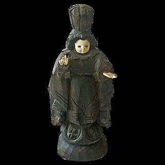 Jesus Figurine Carved Wood