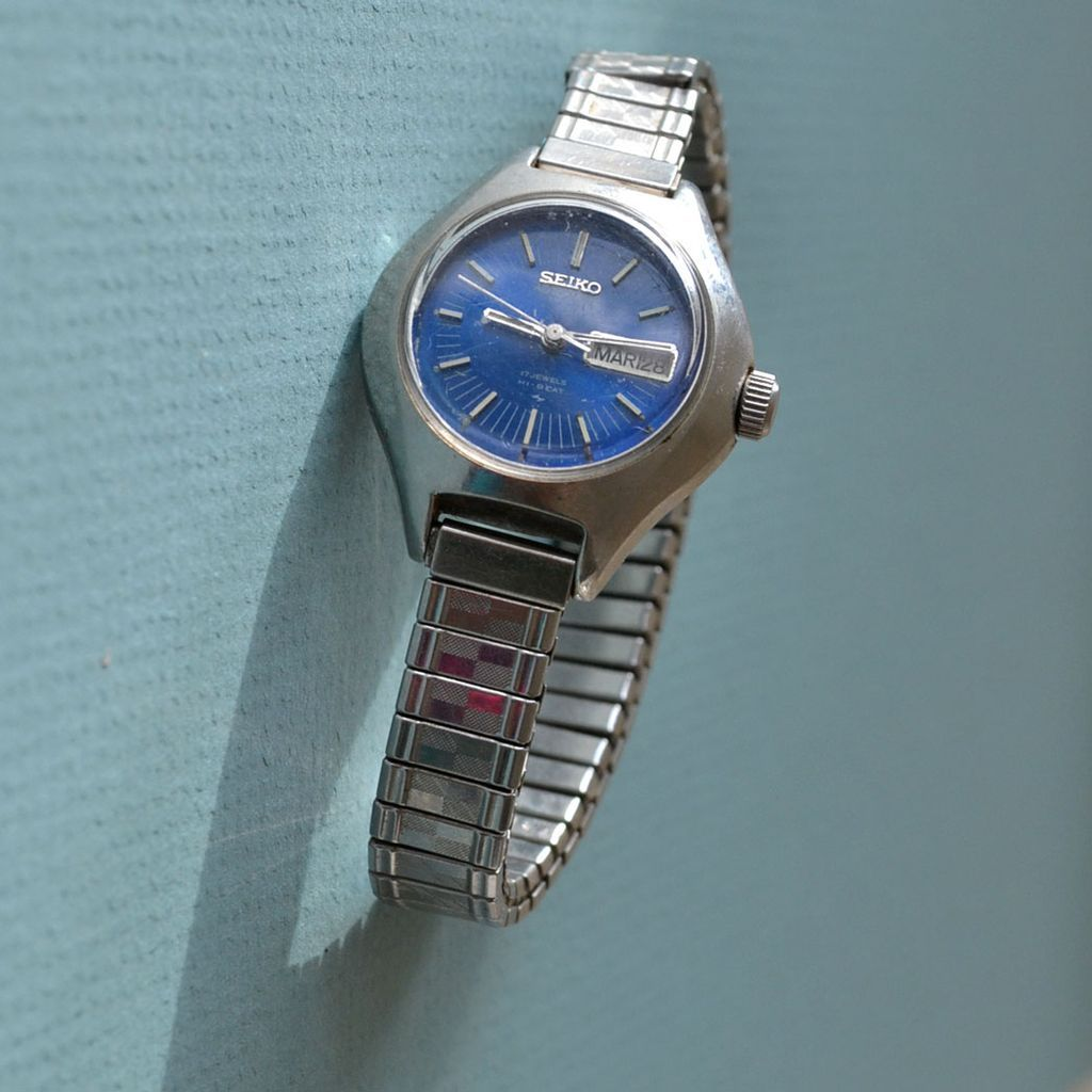 Seiko Watch Day Date Automatic Vintage Ladies