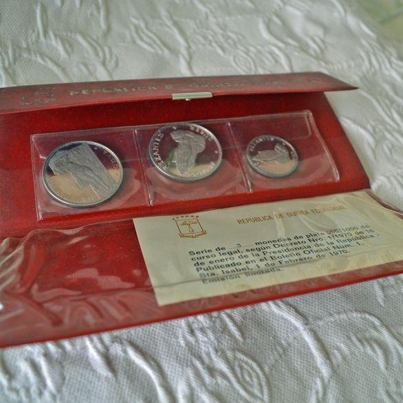 Silver Coin Set Republica de Guinea Ecuatorial 1970