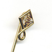 14K Gold Stickpin with Diamond