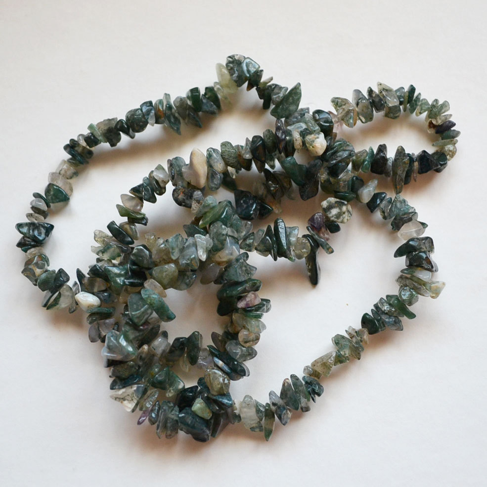 Polished Stone 34 Inch Green Necklace