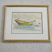Original Watercolor Painting B. Chase Monhegan Maine