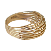 Ring Gold Modernistic 14Kk 5 Grams