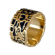 Cigar Band Ring 14k Gold 10 grams