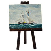 Miniature Painting Nautical Seascape