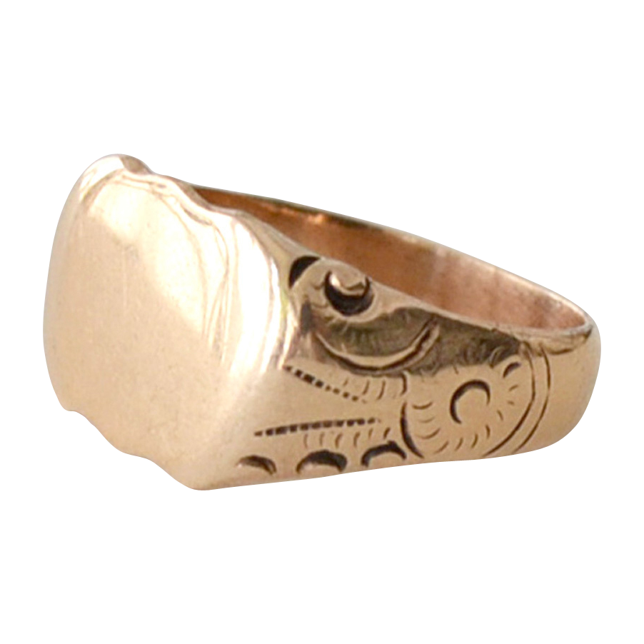 Signet Ring 14K Gold 6 Grams Ready for Monogram