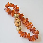 Natural Amber Scarab Bracelet