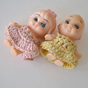 Two Miniature Dolls Crochet with Magnets