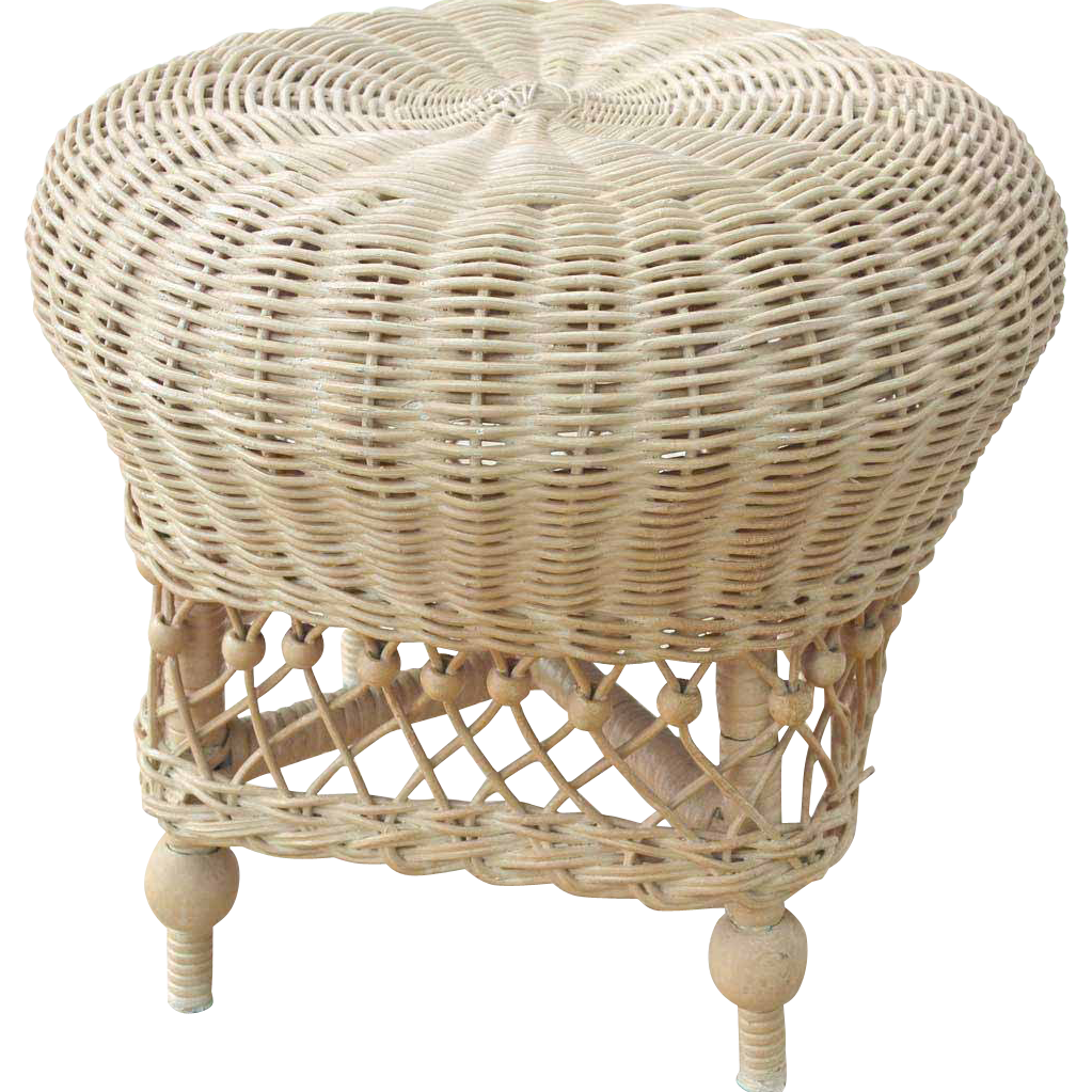 Heywood Wakefield Wicker Foot Stool