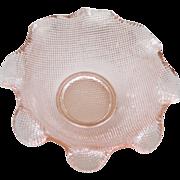 Pretty Pink Depression Glass Bowl Dish