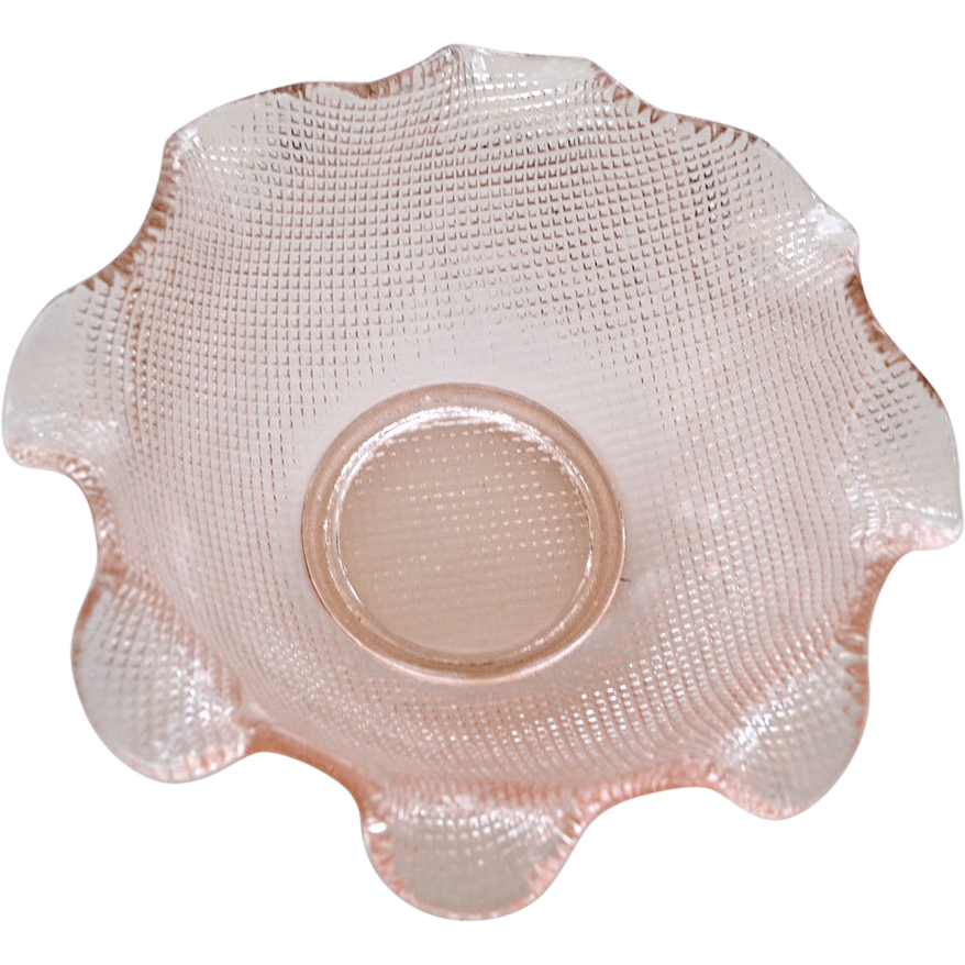 Pretty Pink Depression Glass Bowl Dish