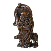 Stone Carving Chinese Scholar Statue