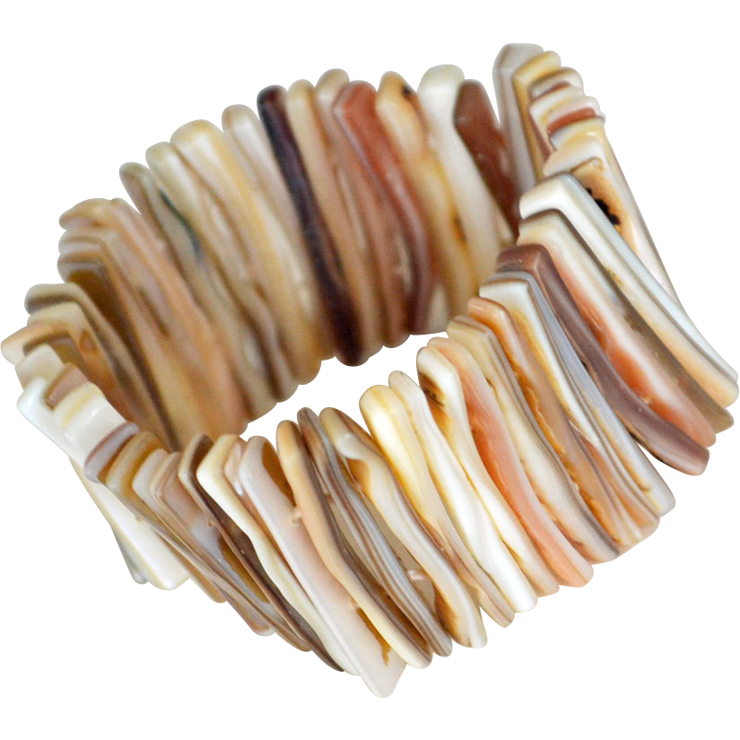 Wide Cuff Bracelet Mother of Pearl Shell