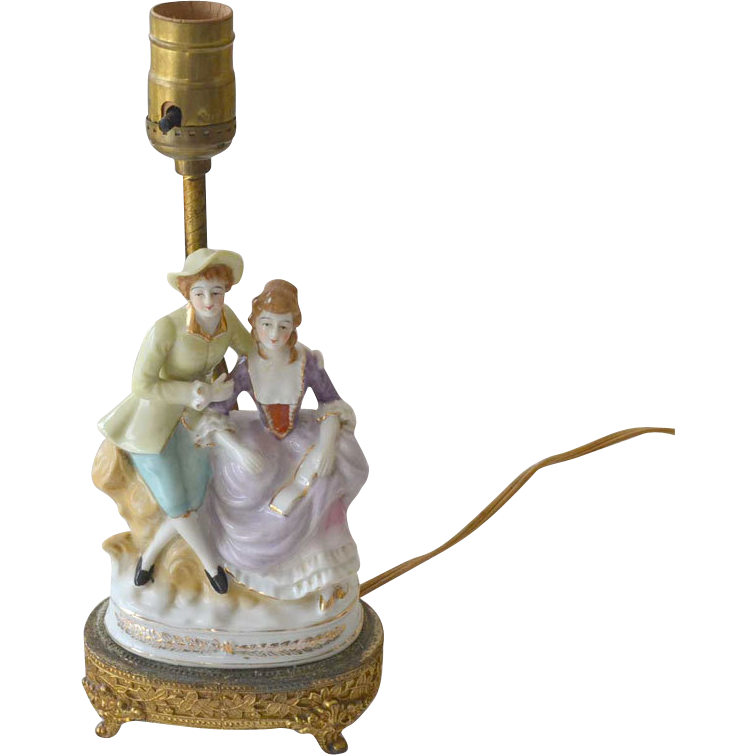 Porcelain Boudoir Lamp Porcelain Romantic Couple