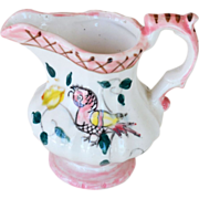 Creamer Pitcher Pink with Bird Japan