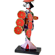 Japanese  Geisha Doll with Box