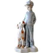 Boy and His Dog Fine Porcelain Figurine