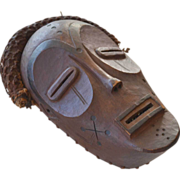 Wood African Mask Woven Trim